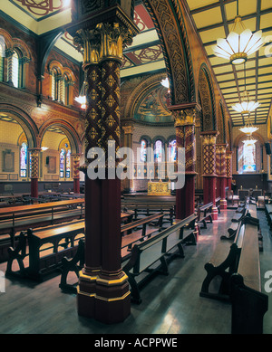 Byzantine interior of the Strand Chapel at Kings College London by George Gilbert Scott. - Stock Photo