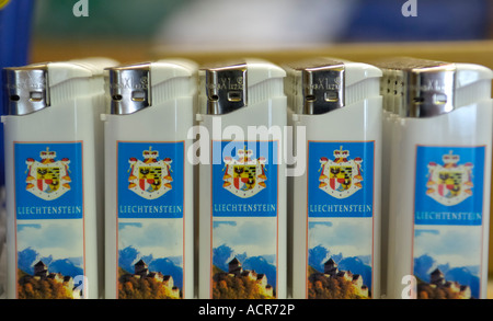 Lighters from the Principality Liechtenstein - Stock Photo