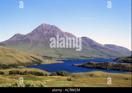 Cul Beag by Loch Lurgainn near Ullapool - Stock Photo
