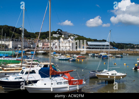 dh St Aubins Harbour ST BRELADE JERSEY Yachts and boats in St Aubins Harbour - Stock Photo