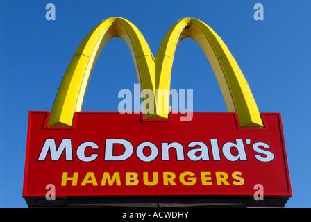 Mac Donald sign - Stock Photo
