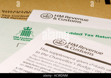 Value added tax return letter - Stock Photo