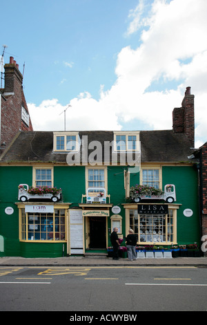 Cobblestone Walk, High Street, Steyning, West Sussex, England, UK - Stock Photo