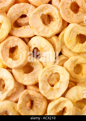 DRIED APPLE RINGS - Stock Photo