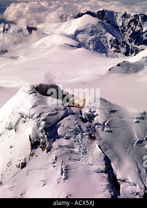 The crater of the sleeping volcano Mount Spurr in Alaska Mount Spurr was last active in 1992 - Stock Photo