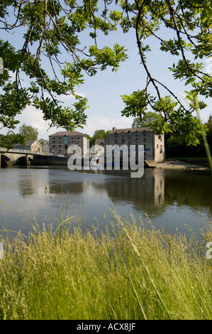 Cardigan town Heritage Centre on the banks of the River Teifi, Ceredigion, Wales UK - Stock Photo