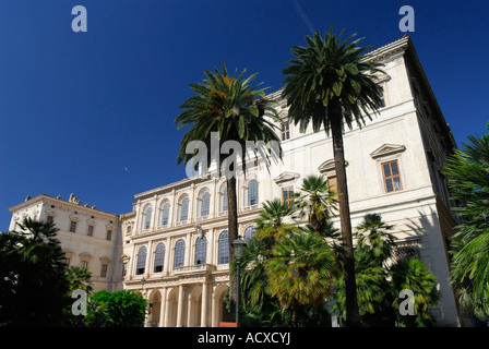 Corsini Palace housing National Academy of Science and Galleria Rome Italy - Stock Photo