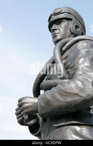 Virginia Beach Virginia 24th Street Park Naval Aviation Monument statue military pilot - Stock Photo