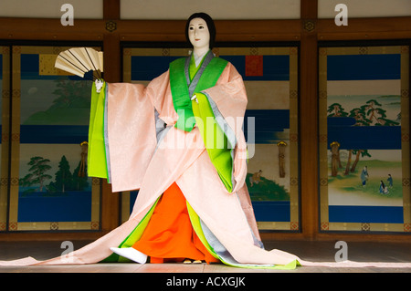 Japan Honshu Island Kyoto a model concumbine in Kyoto Imperial Palace - Stock Photo