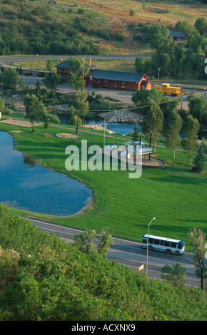 lincoln park and the depot art center steamboat springs colorado usa stock photo alamy alamy