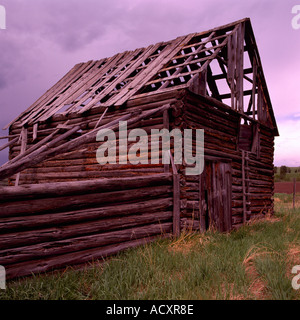 Image Of An Abandoned Ranch House In Disrepair With Piles