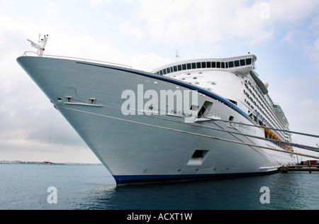 The Explorer of the Seas cruise ship docked at the Royal Naval dockyard in Bermuda. - Stock Photo