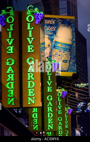 The Times Square location of the Olive Garden Restaurant chain Stock ...