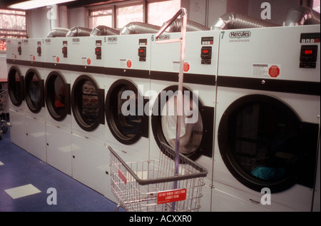 Dryers in a laundry room - Stock Photo