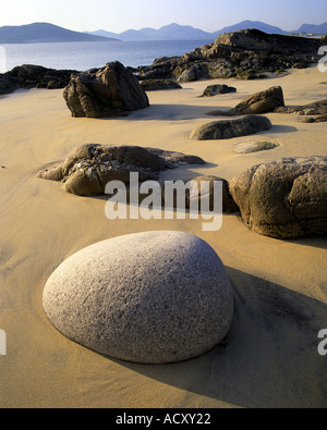 GB -  SCOTLAND: Luskentyre Sands at Seilebost on the Isle of Harris in the Outer Hebrides - Stock Photo
