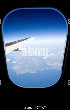 View from an aeroplane - Stock Photo