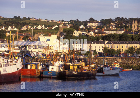 Fishing trawlers at the harbour of Howth near Dublin Ireland - Stock Photo