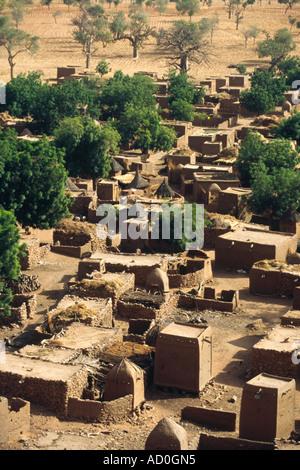 Dogon vilage - Teli, Pays Dogon, MALI - Stock Photo