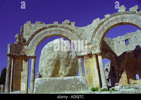 Qala'at Samaan - Aleppo, SYRIA - Stock Photo