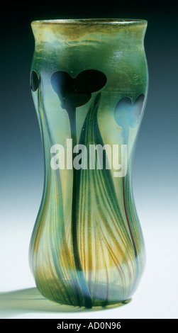 Vase by Louis Comfort Tiffany. America, 1896. - Stock Photo