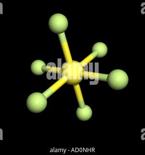 Sulfur hexafluoride molecule - Stock Photo