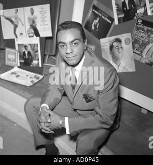 Johnny Mathis. Photo by Harry Hammond, England, 1958. - Stock Photo