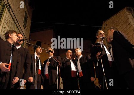 Chorus in a Split festival, Croatia - Stock Photo