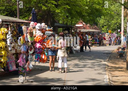 Stalls in Budapest's City Park Varosliget - Stock Photo