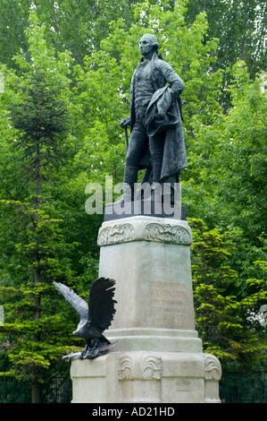 Statue to George Washington in Budapest city park erected by US Hungarians in 1906 - Stock Photo