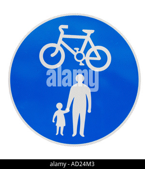 Cyclists and pedestrians only. - Stock Photo