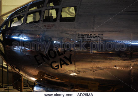 Enola Gay B-29 on display at the Steven Udvar-Hazy Center - Stock Photo