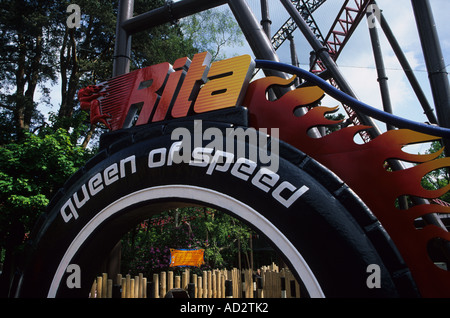 Rita Queen Of Speed Ride Alton Towers - Stock Photo