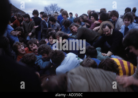 The Sway men fight for the Hood The Haxey Hood Game Haxey Lincolnshire England UK HOMER SYKES - Stock Photo