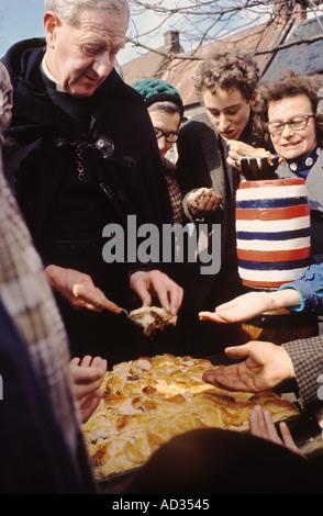 [Bottle Kicking] and [Hare Pie] Scrambling Hallaton Leicestershire UK HOMER SYKES - Stock Photo
