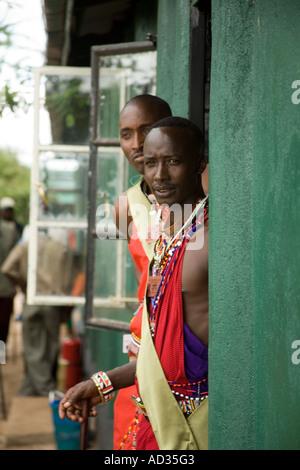 Students at Koiyaki guiding school, Masai Mara, Kenya - Stock Photo