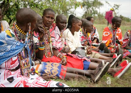 Women at first graduation of Koiyaki  Guiding School, Masai Mara, Kenya - Stock Photo