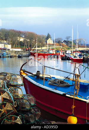 Fishing boats in the harbour of the picturesque village of Roundstone, Connemara, County Galway, Ireland - Stock Photo