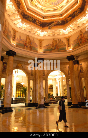Interior of the former Hong Kong and Shanghai Bank on the Bund in Shanghai China - Stock Photo