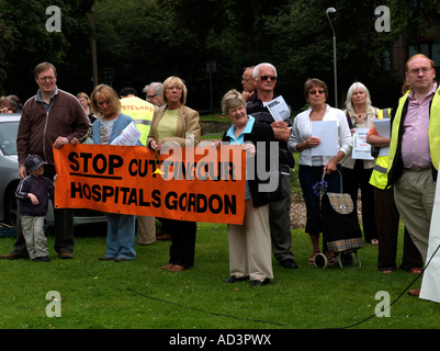 Protesters Roseberry Park Epsom Surrey Protesting Over the Proposed Closure of the Maternity and Neonatal Departments - Stock Photo