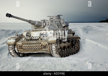 Panzer IV - a tank used by Wehrmacht  in World War 2. - Stock Photo