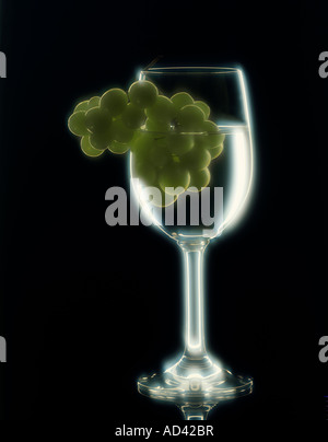 Grapes in glass vertical - Stock Photo