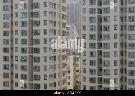 High rise flats in Hong Kong - Stock Photo