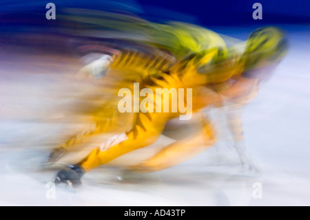 Blurred Colourful Motion And Action Of Track And Field
