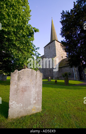 St Martins church Eynsford - Stock Photo