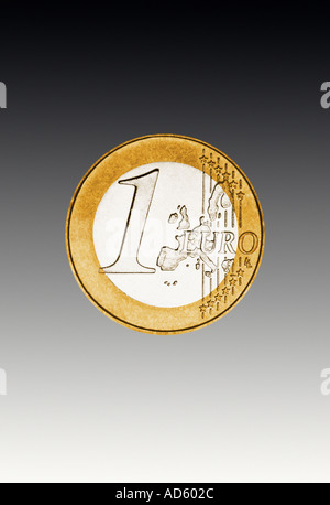 one Euro coin European currency - Stock Photo