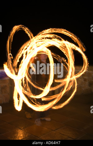 PICTURE CREDIT DOUG BLANE guggling fire - Stock Photo