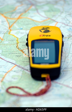 PICTURE CREDIT DOUG BLANE GPS on a map - Stock Photo
