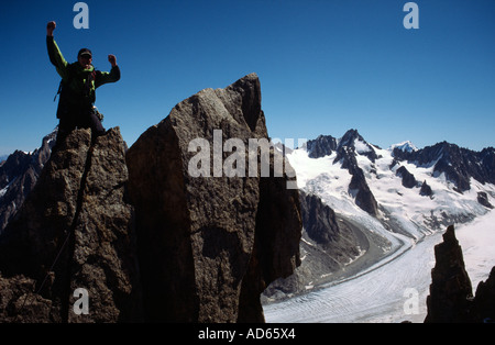 PICTURE CREDIT DOUG BLANE Richard Boud Mountaineering in Chamonix France - Stock Photo