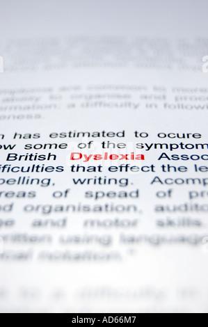 PICTURE CREDIT DOUG BLANE British Dyslexia Association - Stock Photo