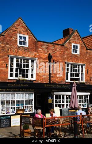 The Oldest Chemist Shop in England Knaresborough North Yorkshire - Stock Photo